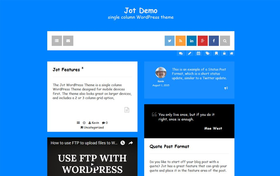 Jot Responsive WordPress Theme