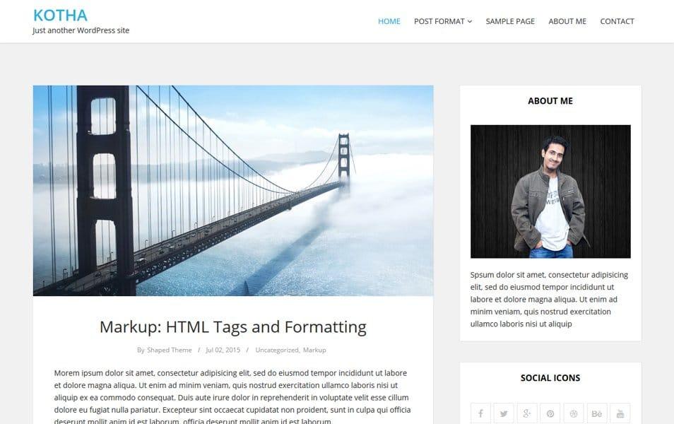Kotha Responsive WordPress Theme