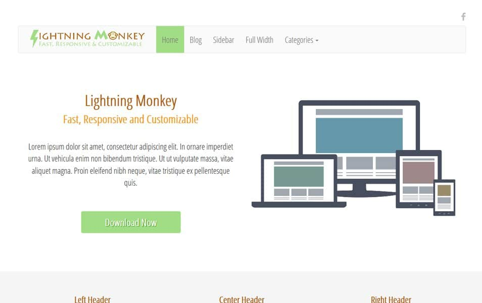 Lightning Monkey Responsive WordPress Theme