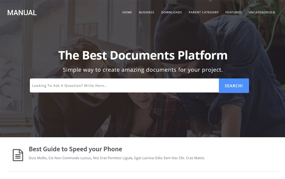 Manual online Docs Responsive Blogger Template