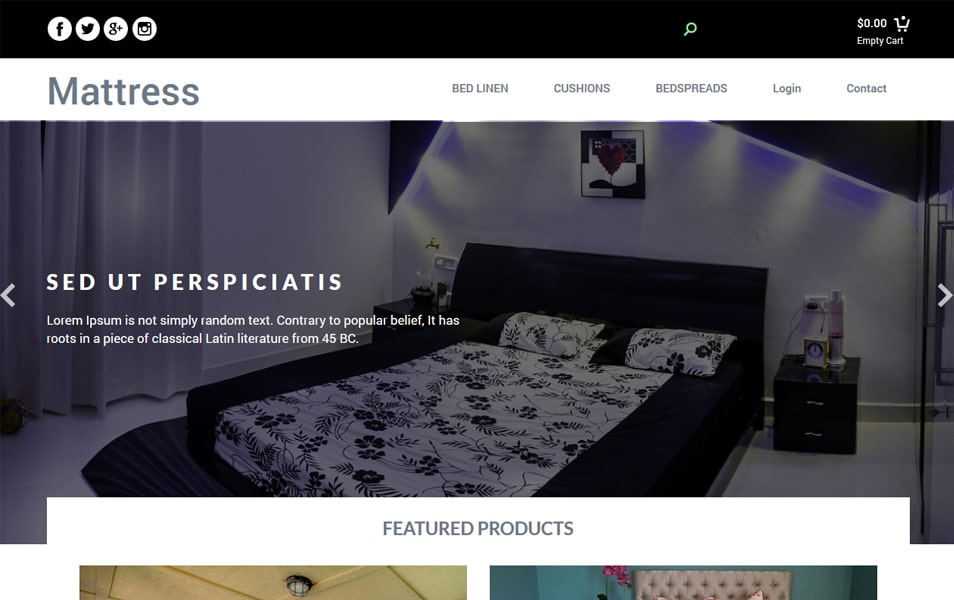 Mattress - Bootstrap Responsive Web Template