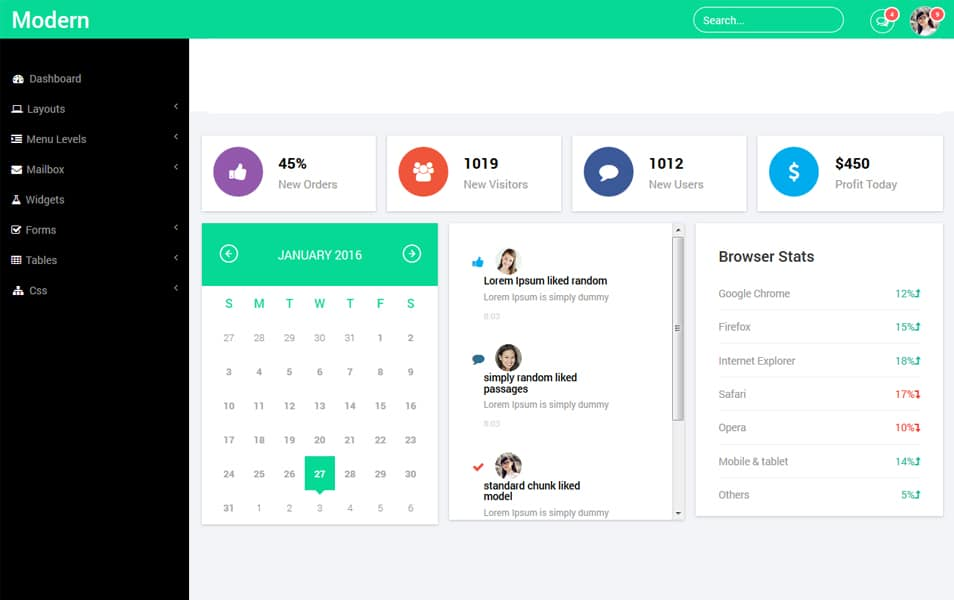 100+ Best Free Bootstrap Admin Templates – My WordPress Website