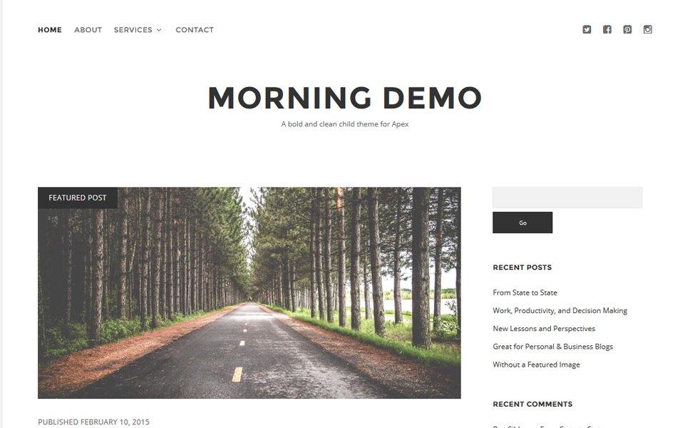 Morning Responsive WordPress Theme