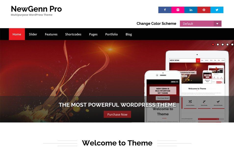 NewGenn Responsive WordPress Theme