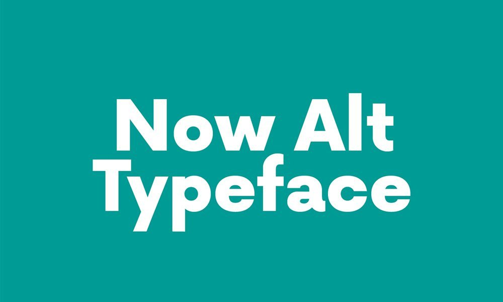 Now Alt Typeface