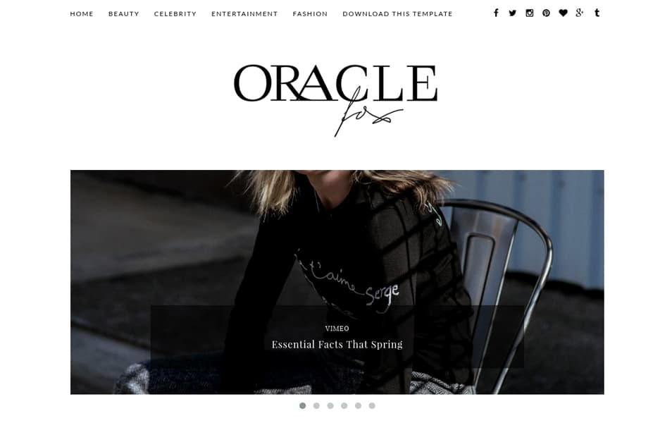 Oracle Responsive Blogger Template