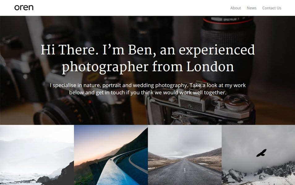 Oren Responsive WordPress Theme