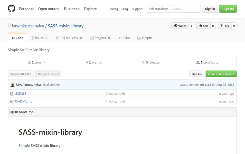 SASS Mixin Library