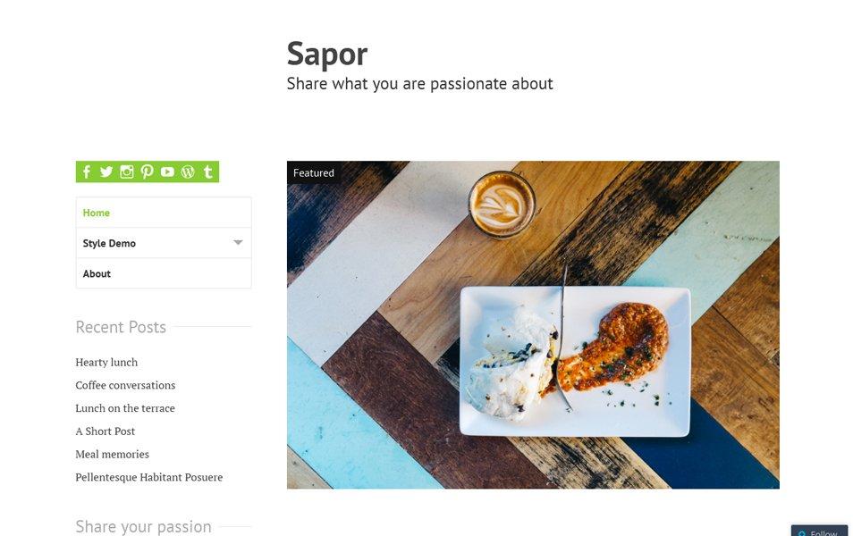 Sapor Responsive WordPress Theme
