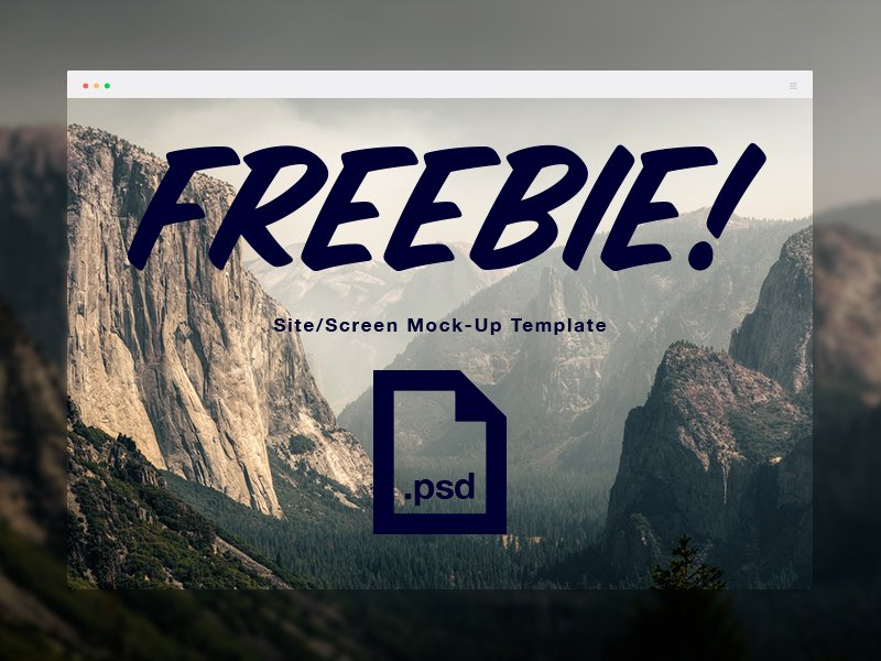 Screen Display Mockup PSD