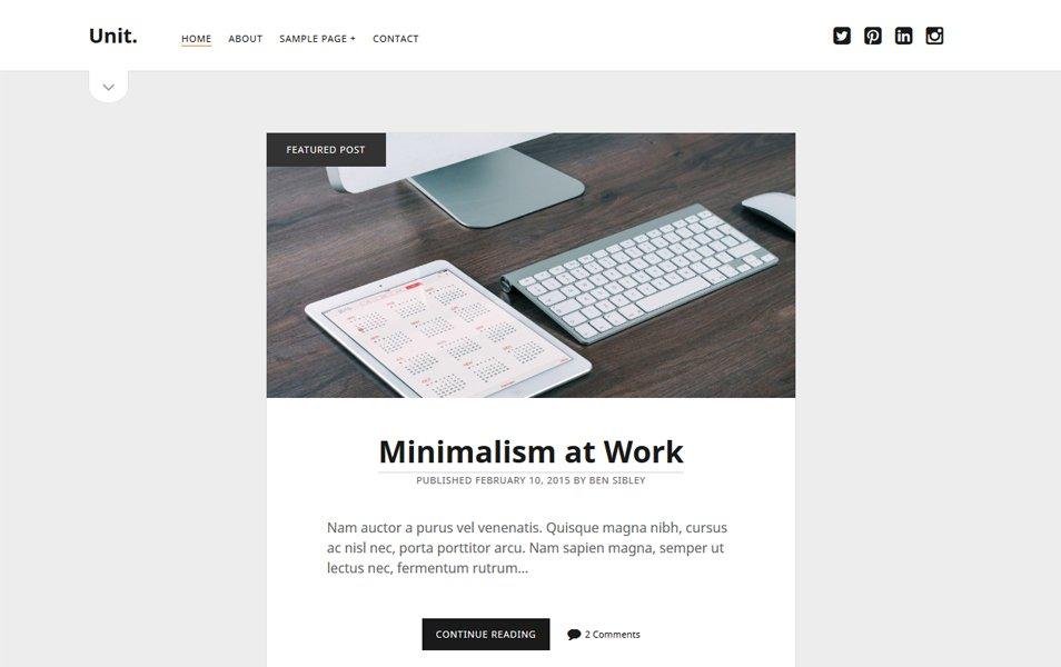 Unit Responsive WordPress Theme