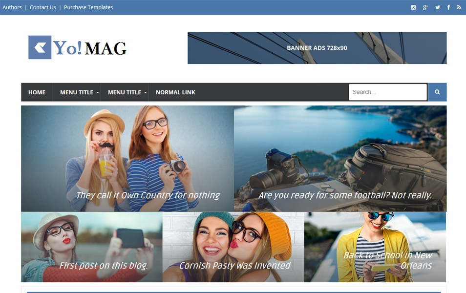 Yo!Mag Responsive Blogger Template