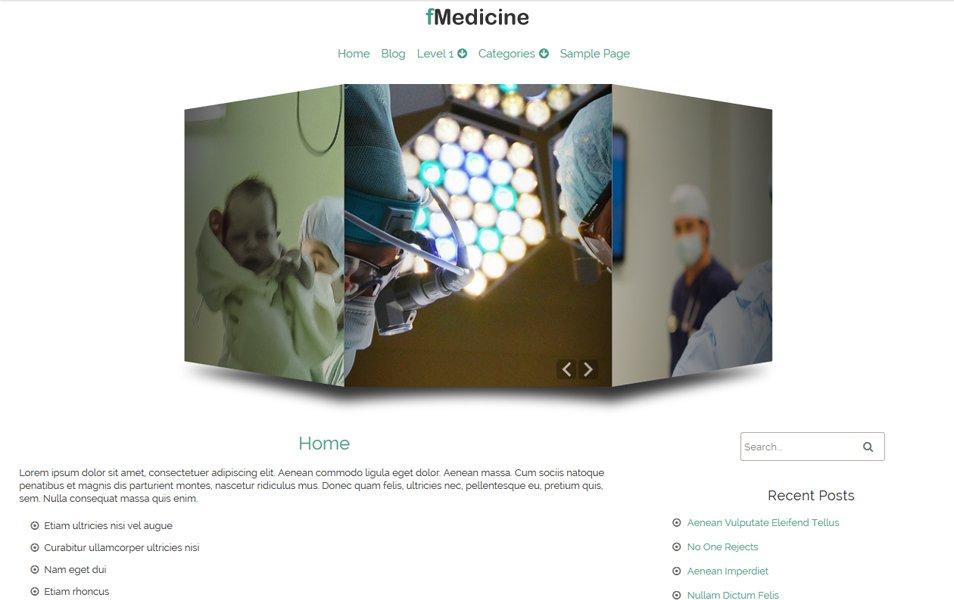 fMedicine Responsive WordPress Theme