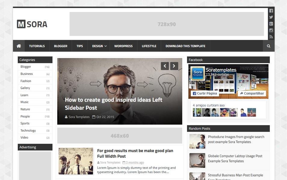 250 best free responsive blogger templates 2015