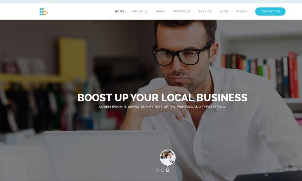 Bplus - وب سایت رایگان کسب و کار قالب PSD
