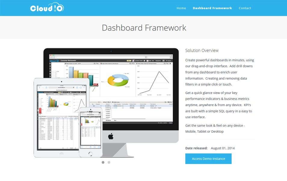 CloudIO Dashboard Framework