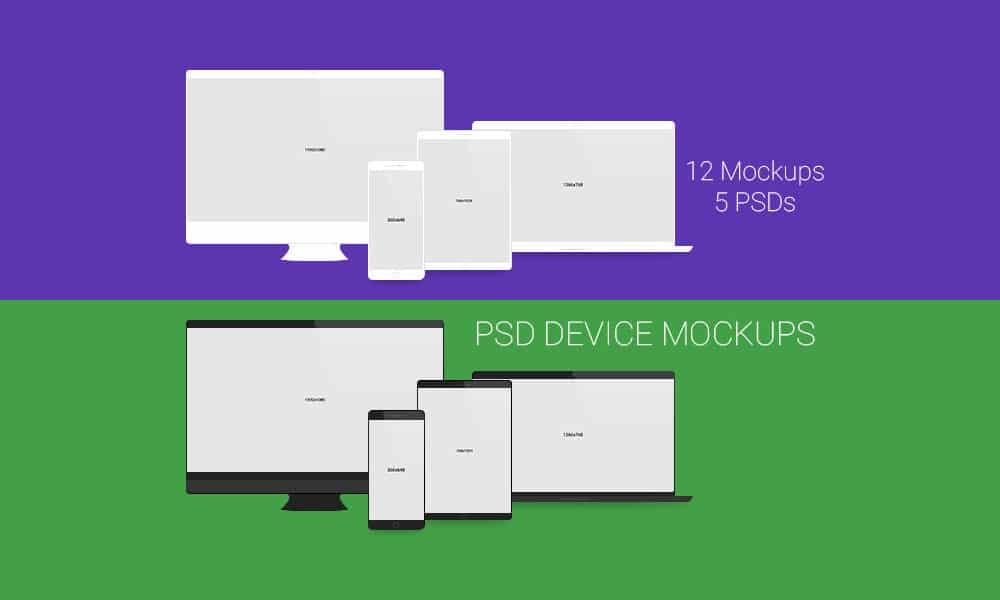 دستگاه از Mockups PSD