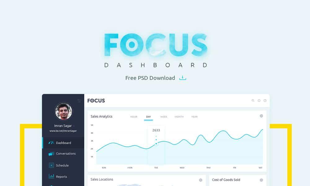 Focus Dashboard UI PSD