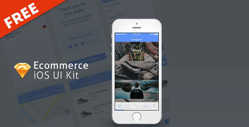 Free Ecommerce iOS UI Kit