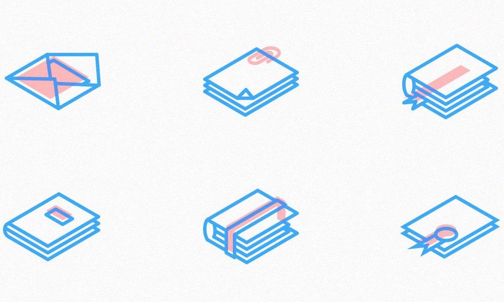 Free Isometric Line Icons