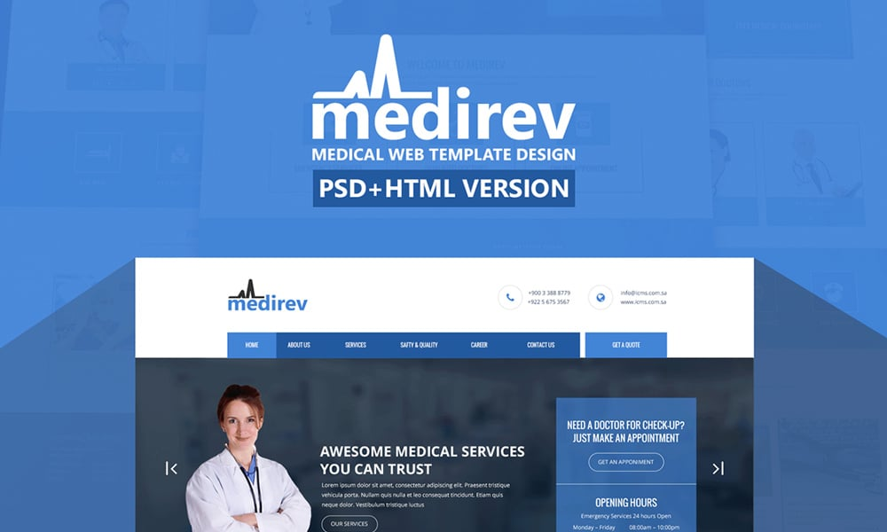Medirev - Free Medical Template
