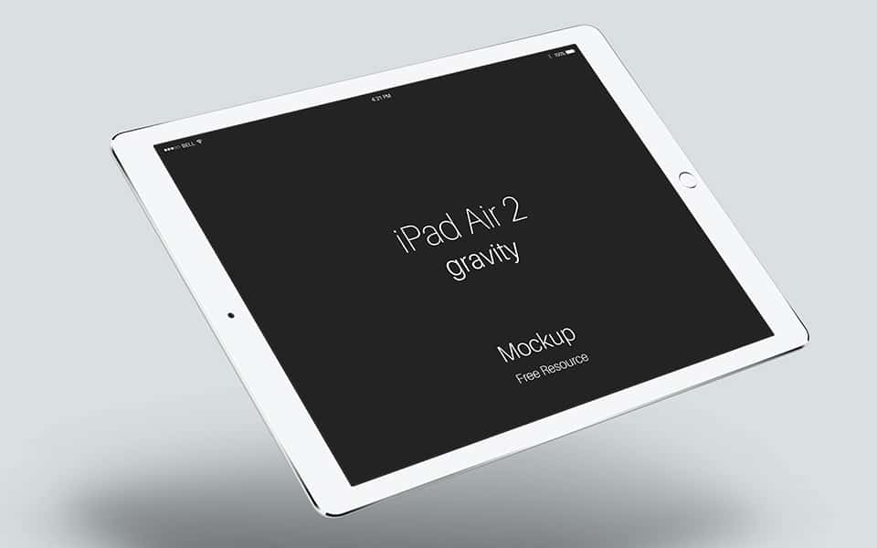iPad Air 2 Gravity Mockup PSD