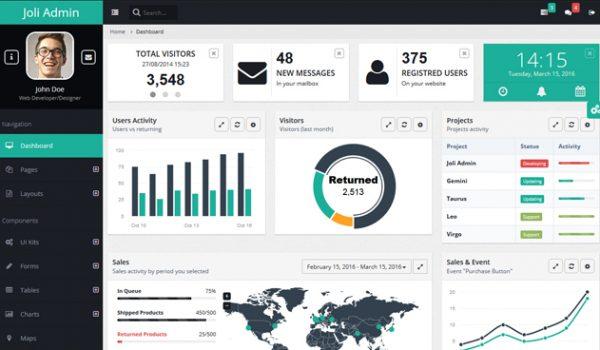30+ Responsive Free AngularJS Admin Themes