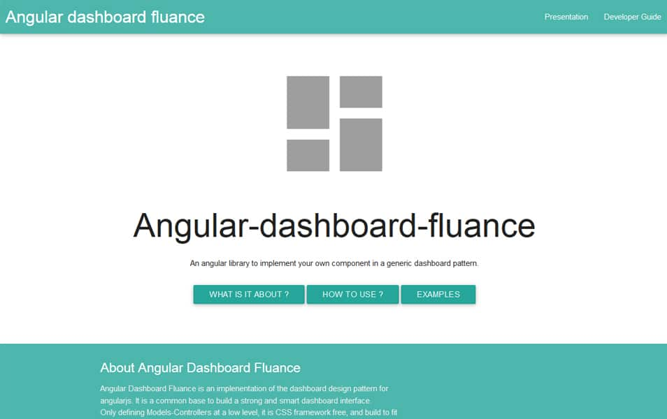 Angular Dashboard Fluance
