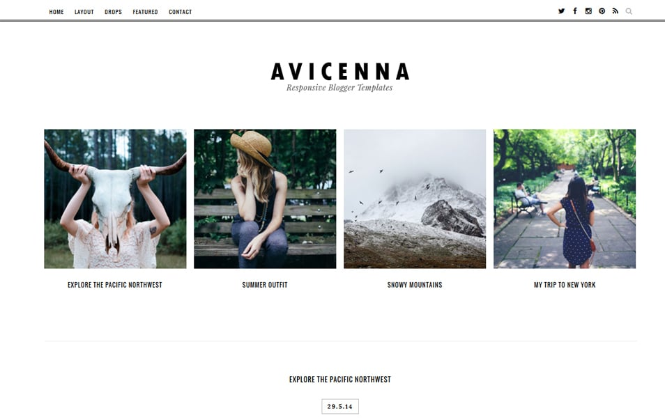 Avicenna Responsive Blogger Template