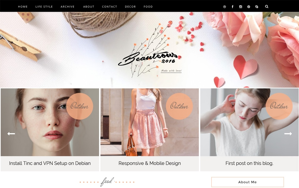Template Blogger Responsif Beauteous