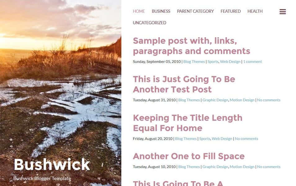 Bushwick Responsive Blogger Template