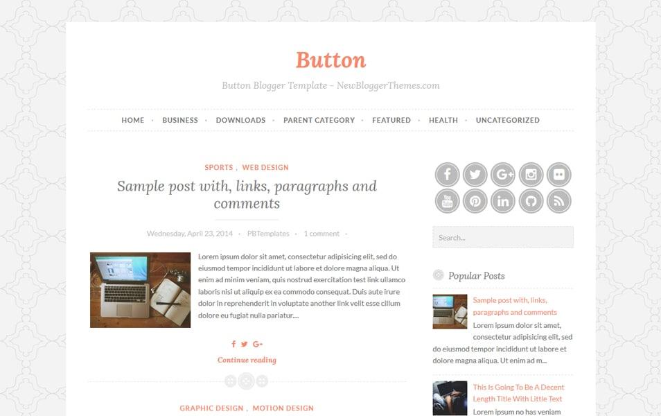 Button Responsive Blogger Template