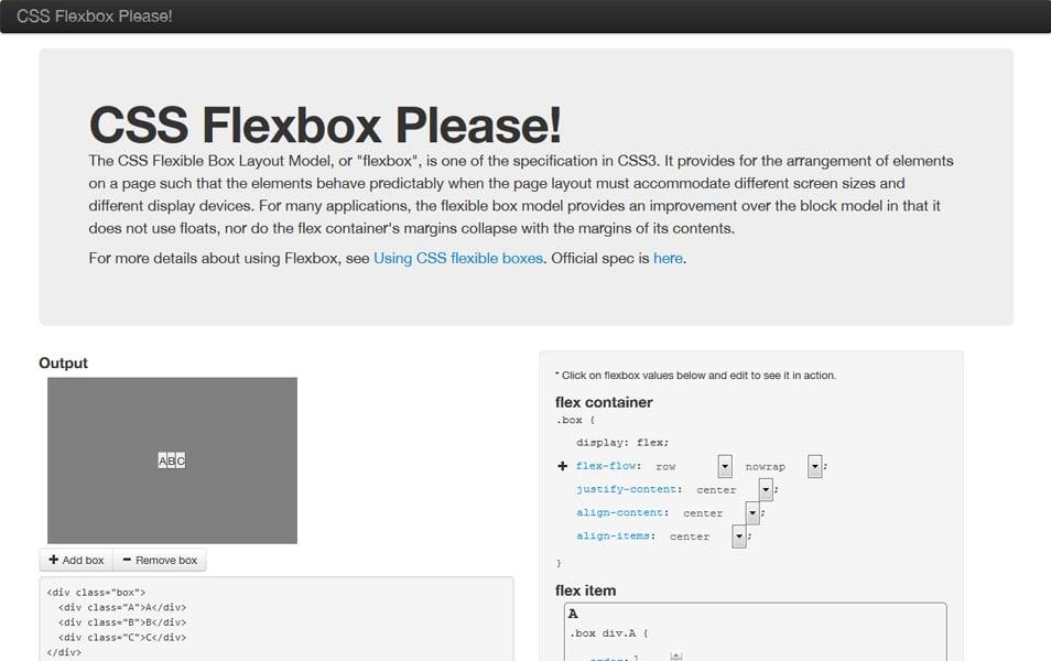 CSS Flexbox Please