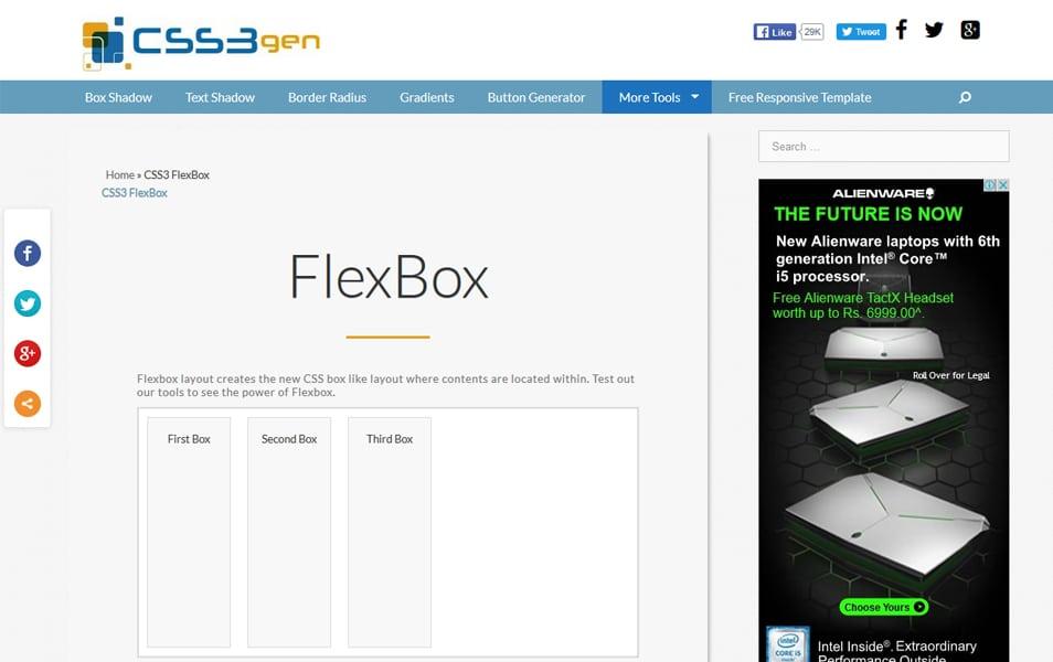 CSS3 FlexBox