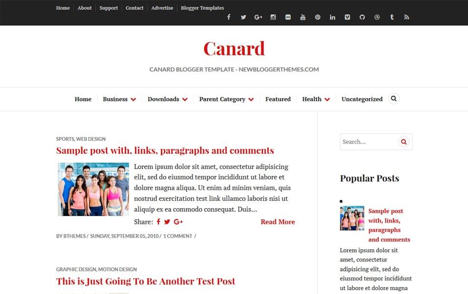 Canard Responsive Blogger Template