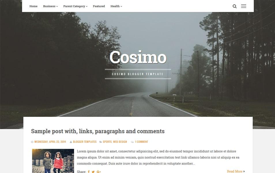 Cosimo Responsive Blogger Template