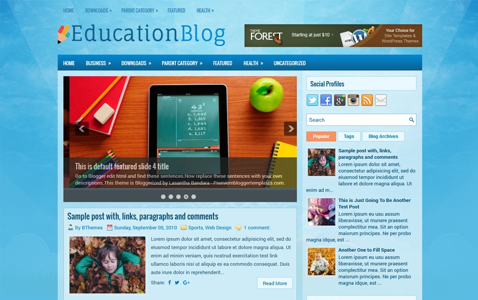 EducationBlog Responsive Blogger Template