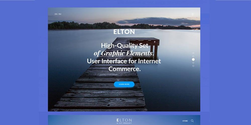 Elton UI Kit PSD