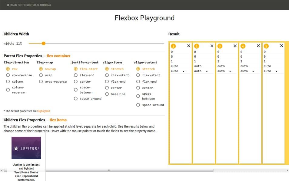 Flexbox Playground
