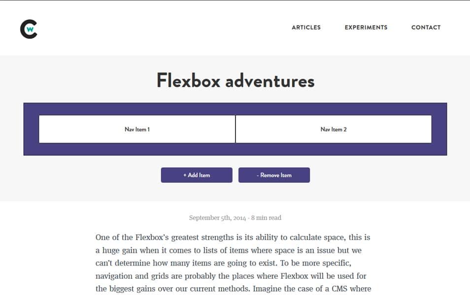 Flexbox adventures