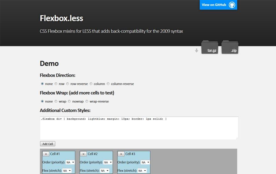 Flexbox.less