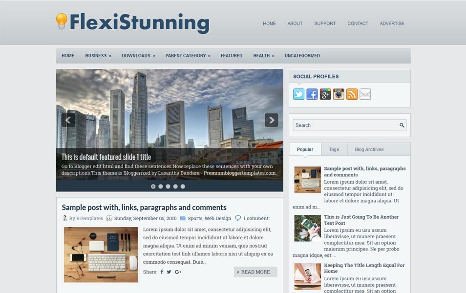 FlexiStunning Responsive Blogger Template