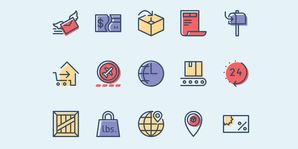 Free-Checkout-and-Delivery-Icons