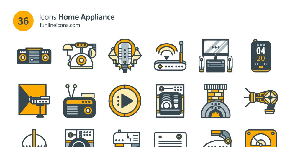 Free Home Appliance And Real Estate Icons