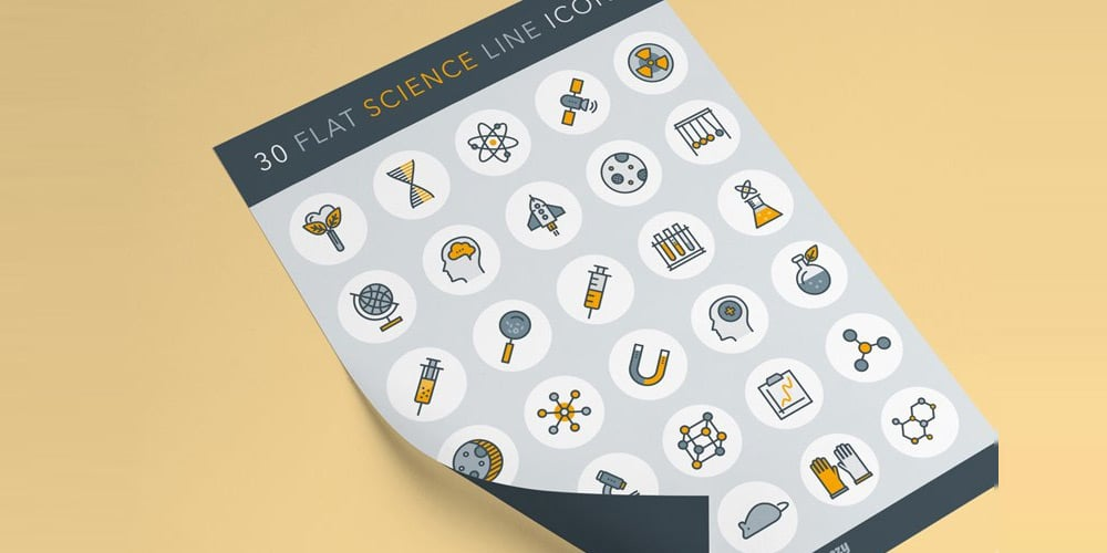 Free Science Line Icons