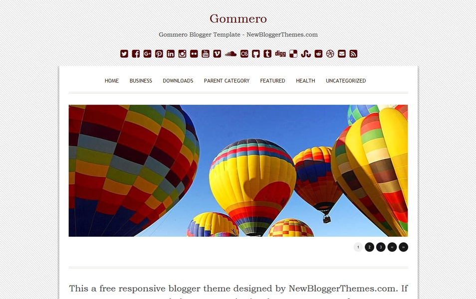 Gommero Responsive Blogger Template