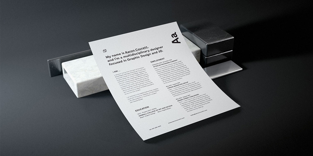 Granite Stationary Mockup PSD
