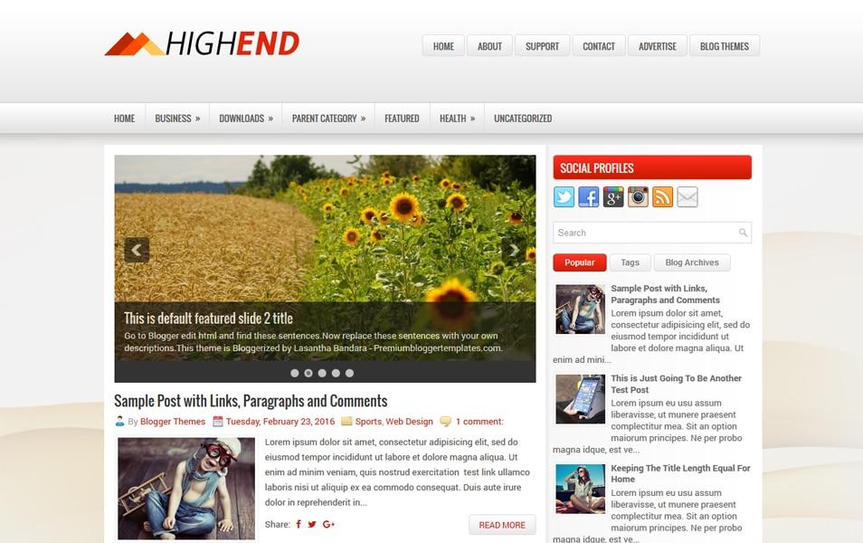 HighEnd Responsive Blogger Template