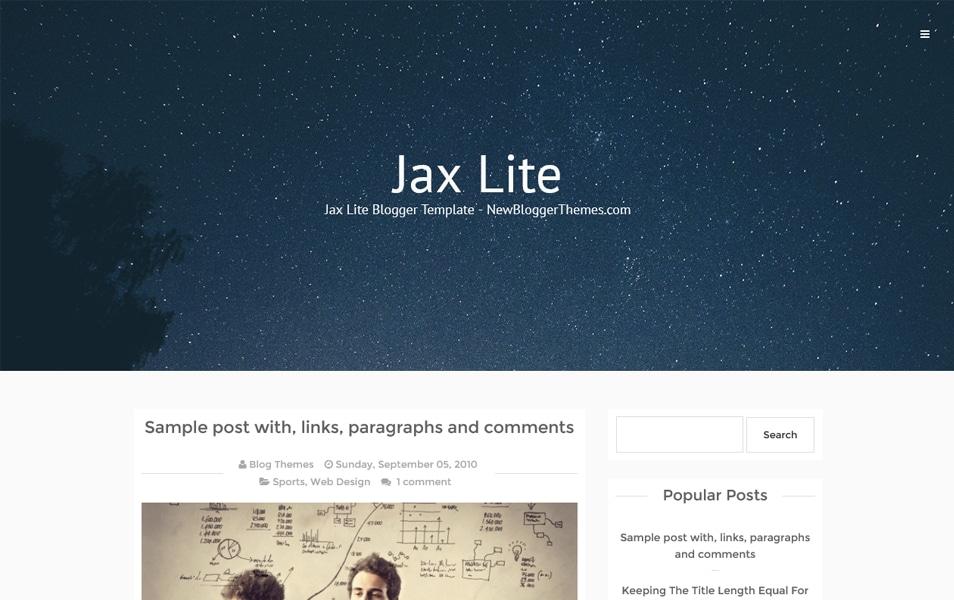 Jax Lite Responsive Blogger Template
