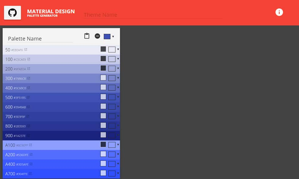 Tools for generating Material Design Color Palettes » CSS ...